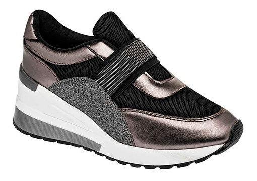 Zapato Casual Sint Dash Mujer Negro 6cm C47048 Udt