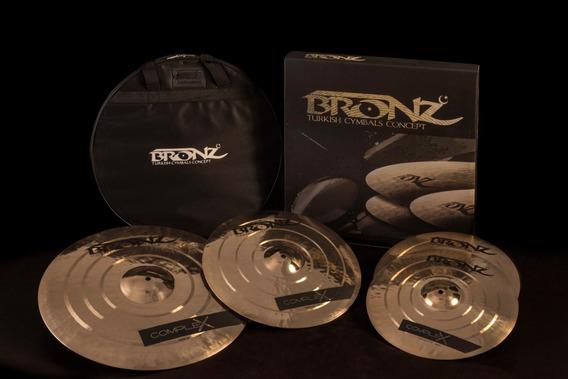 Pratos Odery Bronz Complex B20 Kit 14-16-20 + Bag