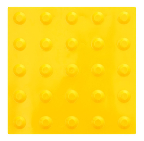 40pçs Piso Alerta Amarelo Pvc 25x25cm