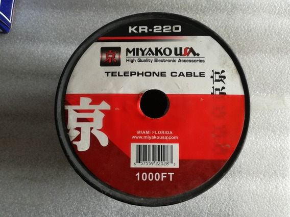 Cable Telefonico Bobina De 1000ft Ó 305 Mts