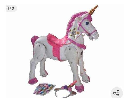 Caballo Pony Unicornio C/diadema Y Calcomanias Para Decorar