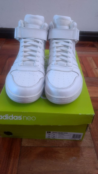 adidas Team Court Mid Branco