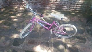 Bicicleta Rodado 20 Rosa Para Niñas