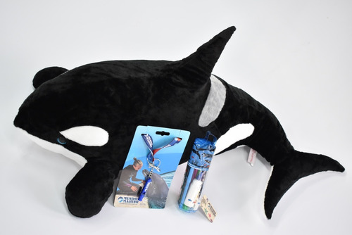 Orca Peluche 80cm X35cm-tubo Marino-silbato Mundo Marino