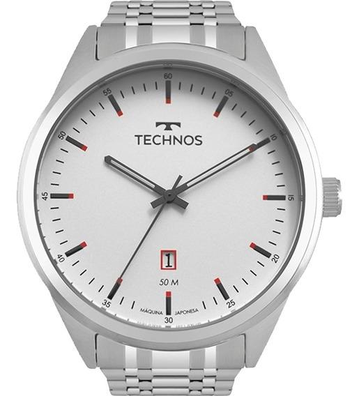 Relógio Masculino Technos Classic Steel Prata 2115msa/1b