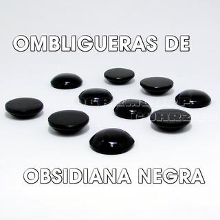 Ombligueras Omi De Obsdiana Negra Natural 2 Cm