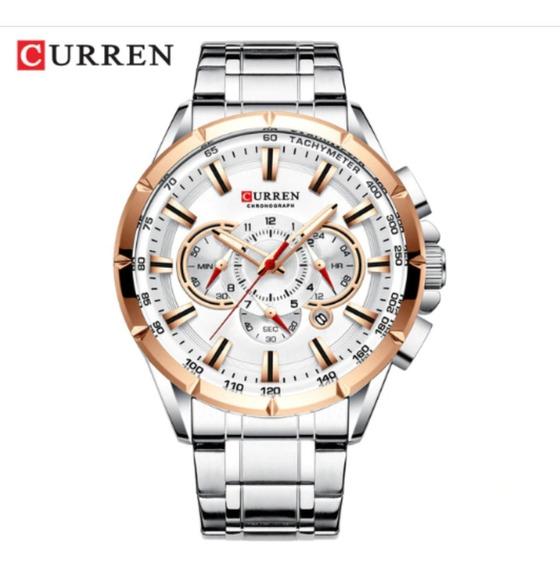 Relógio Curren Masculino Importado Original 8360 Aço