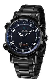 Relógio Esportivo Led Digital Analógico Aço Weide Wh1101 Nfe