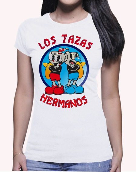 Camiseta Cuphead Mugman Los Pollos Hermano Breaking Bad 3787
