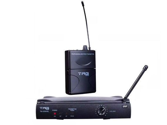 Microfone Sem Fio Headset E Lapela Tag Sound Tm559hsl Oferta