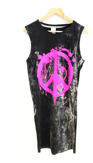 Vestido / Remera Mujer Peace Con Impresión (0085)