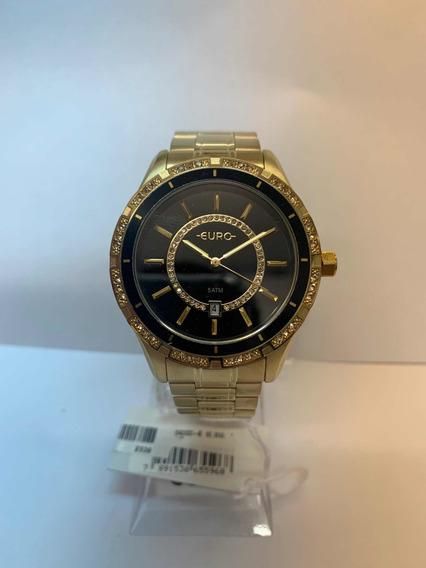 Relógio Euro Dourado Feminino Eu21176haa/4p
