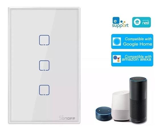 Sonoff Wifi Interruptor 3 Touch Automação Amazon Alexa Googl