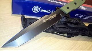Faca Tática Smith & Wesson Cksurg Lâmina Negra