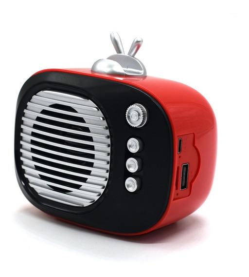 Mini Caixinha De Som Bluetooth Classic Retro Style