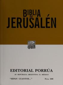 Biblia De Jerusalén Literatura Religión Cristiana Porrúa