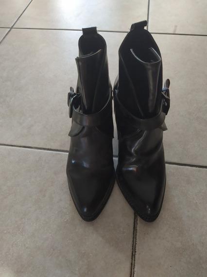 Botas Zara Originales Casi Sin Uso Número 37 Negras