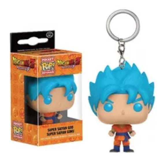 Super Saiyan God Goku Pop Poket Llavero Dragon Ball Z