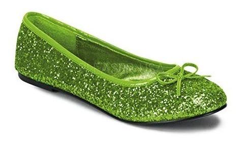 Zapatos Tinkerbell Campanita Glitter Verdes Para Damas 3