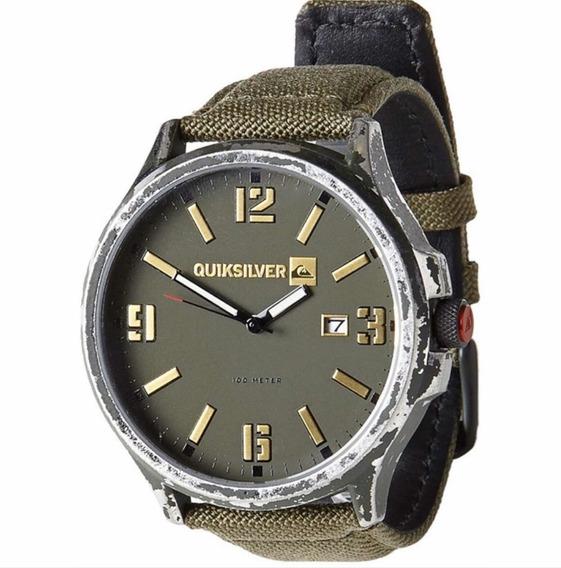 Relógio Quiksilver Beluka Canvas Importado Army
