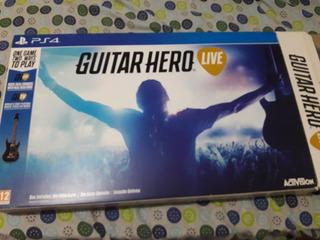 Guitarra + Juego Guitar Hero Ps4