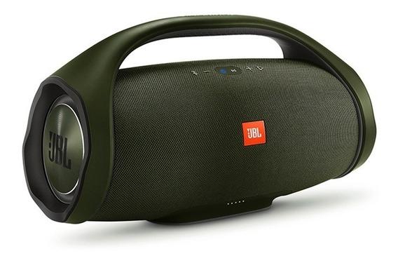 Caixa De Som Portátil Jbl Boombox Bluetooth Green 60w Rms