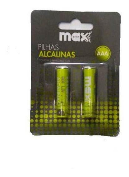 Pilhas Alcalinas Aaa Maxprint Cart. Com 02