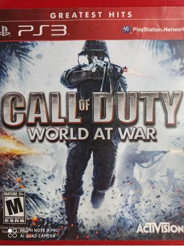 Call Of Duty World At War Ps3 Original , A Pronta Entrega