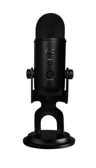 Microfone Blue Yeti condensador omnidirecional, cardióide, bidirecional, estéreo blackout