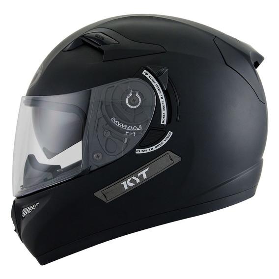 Casco Moto Kyt Venom Mat Black Doble Visor Motoscba