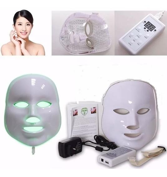 Máscara Facial Led 7 Cores Tratamento Pele Fototerapia Orig.