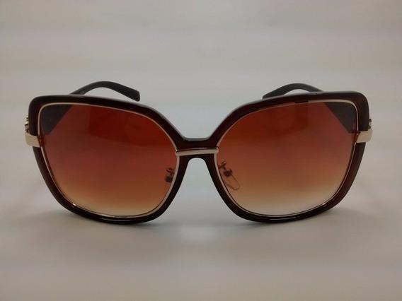 Óculos De Sol Otto - Marrom E Dourado - Ho1318