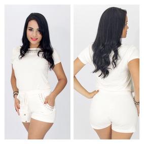 Shorts Feminino Plus Size E Pedras Roupas Femininas Da Moda