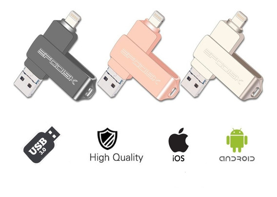 Pendrive 32gb Smartphones iPhone 5 A Xs Android Pc Usb3.0