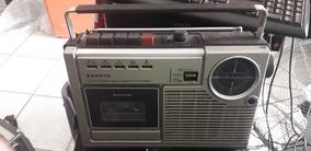 Radio Gravador Antigo Sanyo 2402-2f Funcionando Raridade