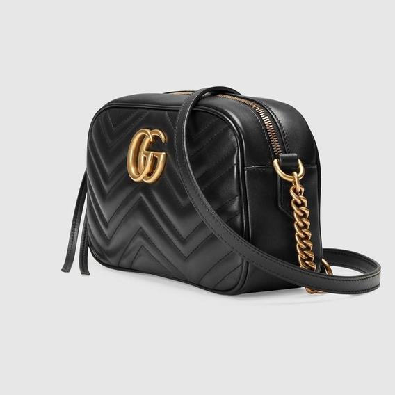 Bolsa Gucci Marmont Matelassé Gg Couro