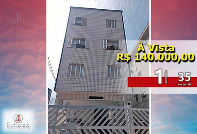 Kitnet Com 1 Dormitório À Venda, 35 M² Por R$ 140.000 - Vila Guilhermina - Praia Grande/sp - Kn0089
