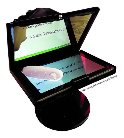 Teleprompter P/tablete, Celular C/ Base,tripé,adap E Contro