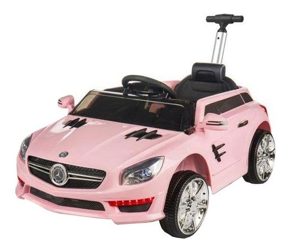 Auto Batería Eléctrico Mercedes Benz Barral Push Car Rosa