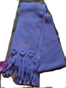 Roupa Cachecol Infantil Barbie Para C&a Moleton Soft