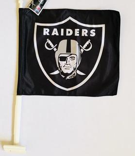 Bandera Para Auto Oakland Raiders, Producto Oficial Nfl