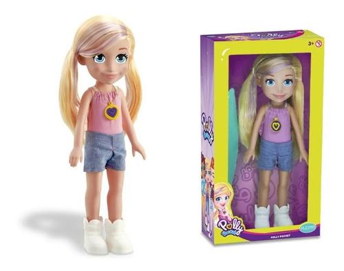 Imagem 1 de 6 de Boneca Polly Surf 38cm Polly Pocket - Mattel Pupee