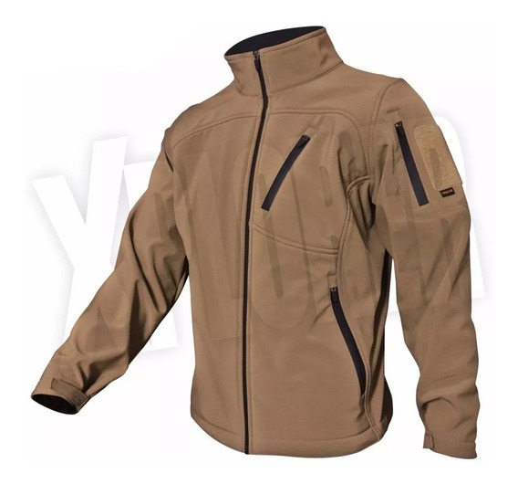 Campera Softshell Beige Rescue Impermeable Urban Jacket