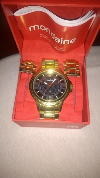 Relógio Mondaine Dourado Novo!