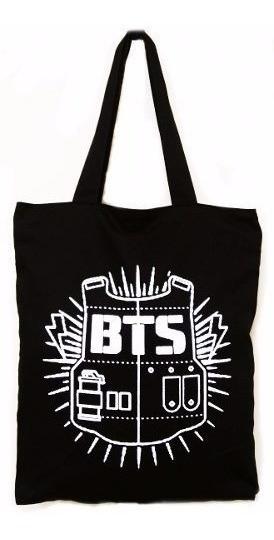 Bolsa Tecido Silk Screen Bts Antigo Logo Banda Coreana K-pop