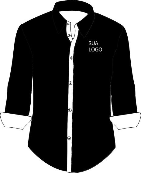 Kit Camisas Sociais Manga Longa Masculino 20 Unidades