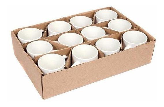 Caneca Para Sublimação Branca Porcelana - 12 Unidades