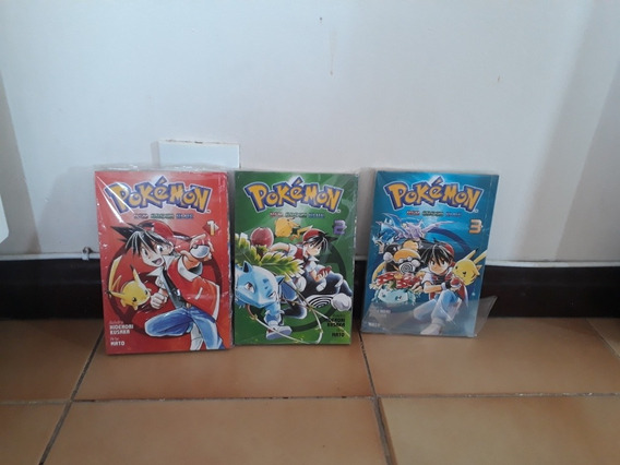 Mangas Pokemon Red Grean Blue Yellow Completo