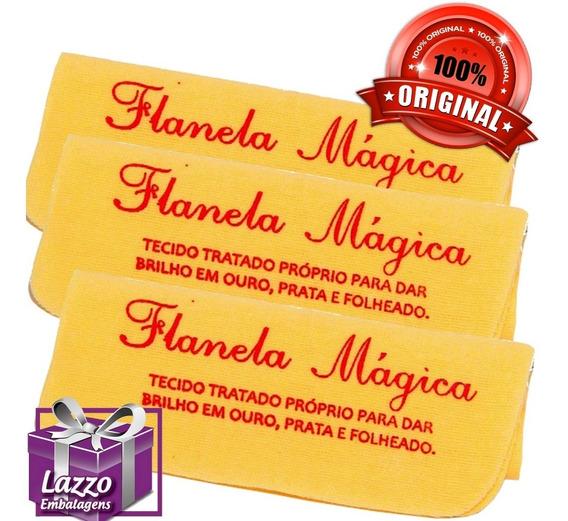60 Flanela Magica Original Limpa Ouro Prata Folheado Atacad