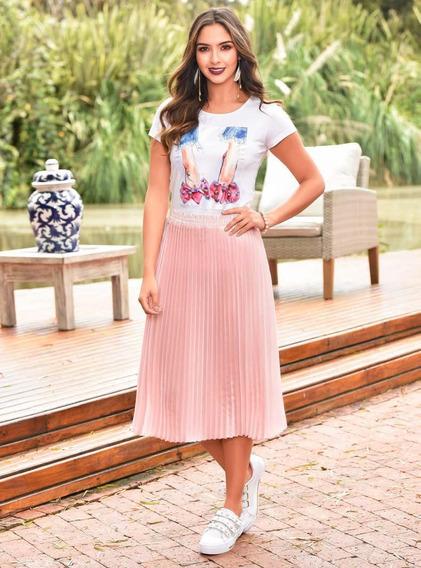 Falda Larga Outfit 987 Para Mujer Rosa